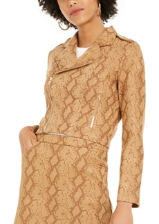 Lucy Paris Faux Suede Snake Print Jacket