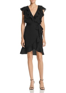 Lucy Paris Faux-Wrap Ruffle Dress