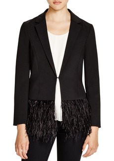 Lucy Paris Feather Trim Blazer - 100% Exclusive