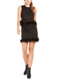 Lucy Paris Feather-Trim Tank Top