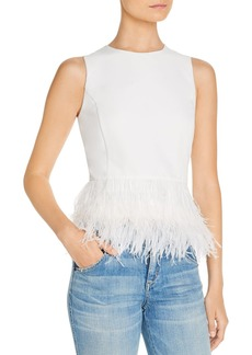 Lucy Paris Feather Trim Top - 100% Exclusive