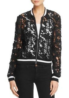 Lucy Paris Grace Lace Bomber Jacket - 100% Exclusive