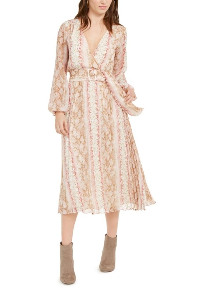 Lucy Paris Leena Snake-Print Dress