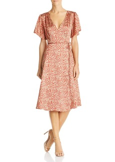 Lucy Paris Leopard-Print Faux-Wrap Dress