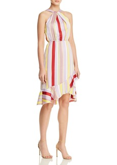 Lucy Paris Patricia Striped Ruffle-Hem Dress
