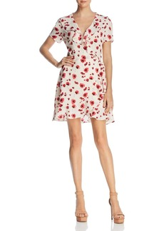 Lucy Paris Poppy Floral Print Wrap Dress