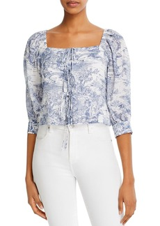 Lucy Paris Printed Puff-Sleeve Top - 100% Exclusive