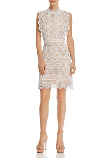 Lucy Paris Scalloped Lace Sheath Dress