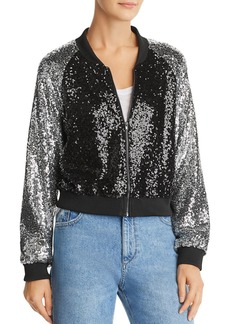 Lucy Paris Sequined Bomber Jacket