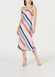 Lucy Paris Sienna Rainbow Slip Dress