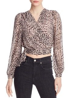 Lucy Paris Teala Leopard-Print Wrap Top - 100% Exclusive
