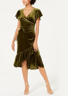 Lucy Paris Veronica Velvet Wrap Dress