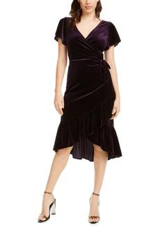 Lucy Paris Veronica Velvet Wrap Dress