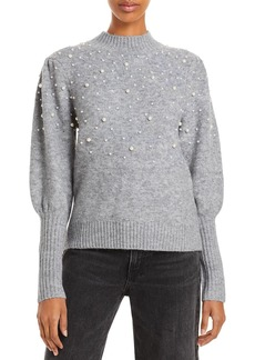 Lucy Paris Winslow Embellished Balloon Sleeve Sweater