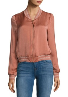 Lucy Paris Zip-Front Bomber Jacket