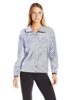 Lucy Women's Cloud Breaker Jacket White Flash Print