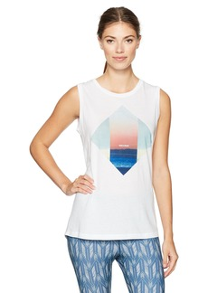 Lucy Women's Cloud Shapes Graphic Tank White L