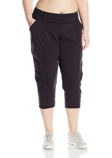 Lucy Women's Plus Size Get Going Capri  1X