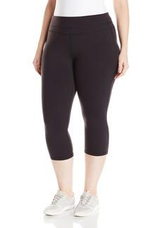 Lucy Women's Plus Size Studio Hatha Capri Legging Black 3X