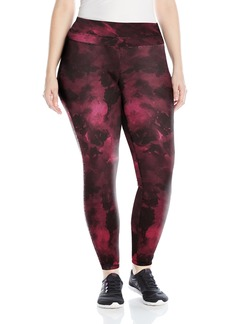 Lucy Women's Plus Size Studio Hatha Print Legging Beet Red Marble