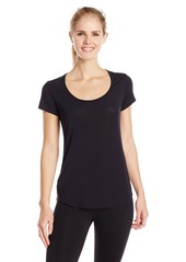 Lucy Women's Short Sleeve Workout Tee Black X-Small