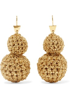 Lucy Rock Formation gold-plated and Lurex earrings