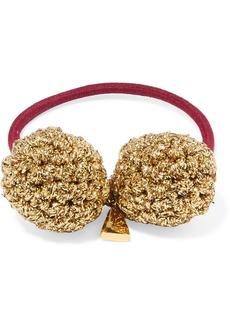 Lucy Rock Formation gold-plated and Lurex hair tie