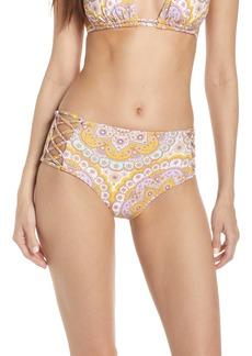 Luli Fama Alhambra Lace-Up High Rise Bikini Bottoms