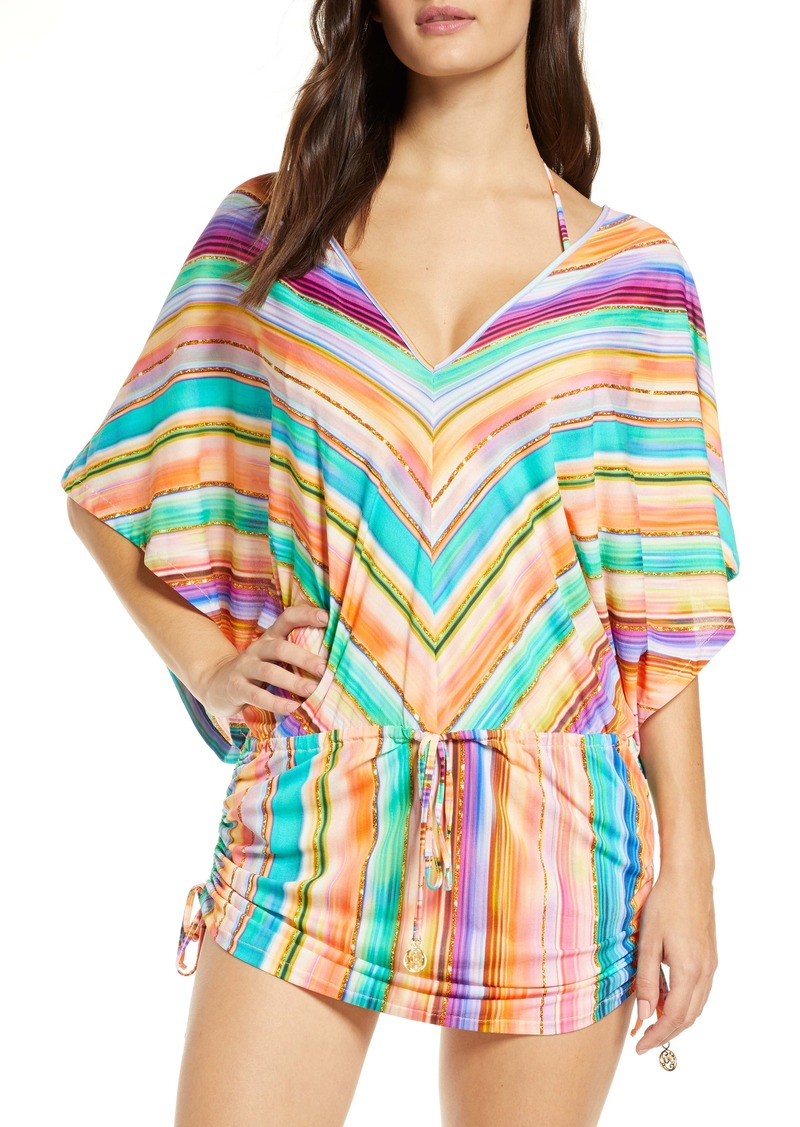 Luli Fama Heat Waves Cabana Cover-Up Dress