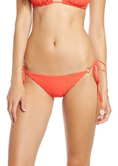 Luli Fama Ring Brazilian Ruched Bikini Bottoms