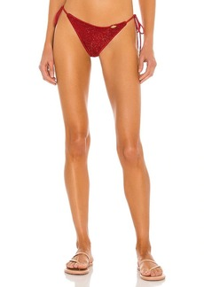 Luli Fama Stardust Wavy Ruched Tie Side Bikini Bottom