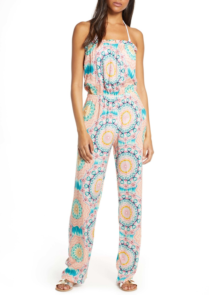Luli Fama Strapless Cover-Up Jumpsuit