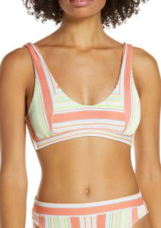 Luli Fama Playtime Lace-Up Back Bikini Top