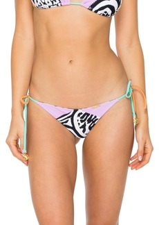 Luli Fama Tie Side Ruched Bikini Bottoms