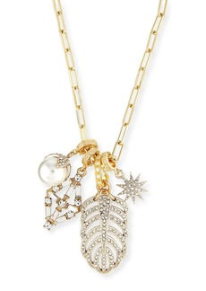 Lulu Frost Crystal Charm Link Necklace