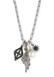 Lulu Frost Crystal Star & Wing Charm Necklace