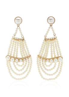 Lulu Frost Pearl Ocean Gold-Plated And Glass Earrings