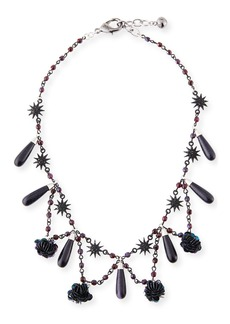 Lulu Frost Rose Crystal Statement Necklace