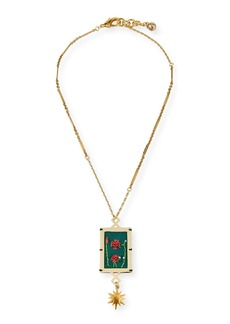 Lulu Frost Villa Hand-Embroidered Pendant Necklace