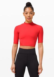 Lululemon Everlux™ and Mesh Cropped Short Sleeve
