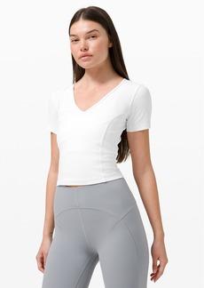 Lululemon Nulu™ Cropped Slim Yoga Short Sleeve Shirt