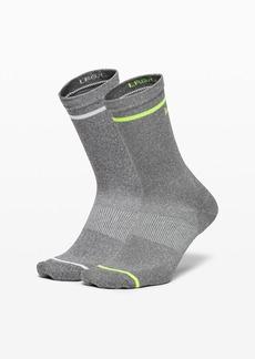 Lululemon Power Stride Crew Sock Stripe *2 Pack Box Set