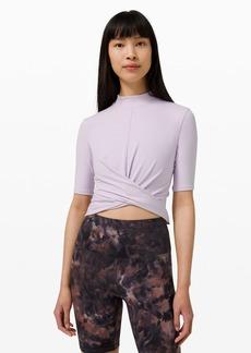 Lululemon Wrap Front Mock Neck Crop Short Sleeve *Online Only