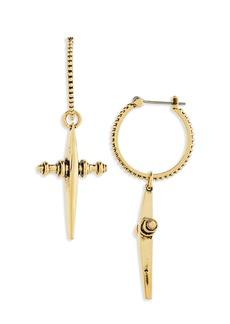 Women's Luv Aj Cross Hoop Earrings