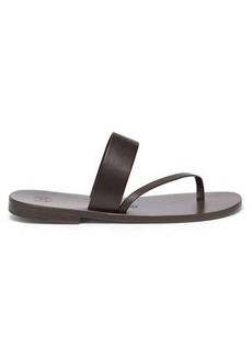Álvaro Alberta diagonal-strap leather slides