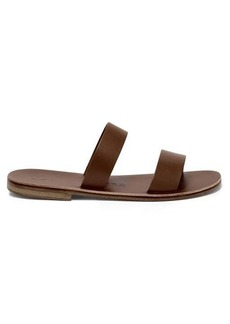 Álvaro Alex double-strap leather slides
