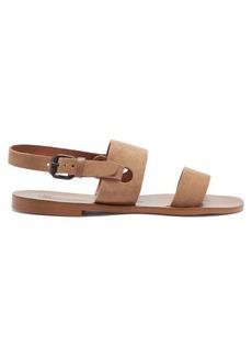Álvaro Alexander suede and leather sandals