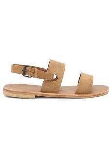 Álvaro Triple-strap suede sandals