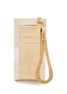 Lynn Ban Bullion bar gold-plated wristlet bag