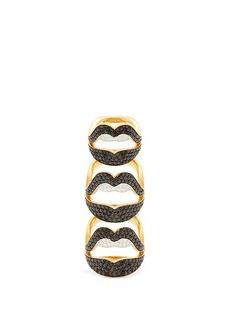 Lynn Ban Ménage à Trois lab-sapphire & gold-vermeil ring